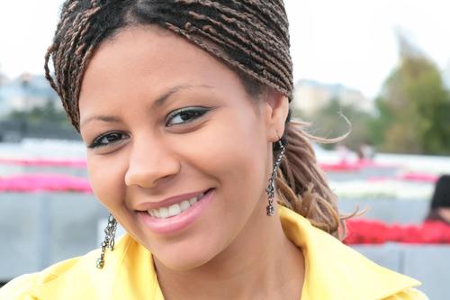 attractive black woman
